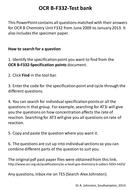 Salters Chemistry OCR B - F332 -Test bank