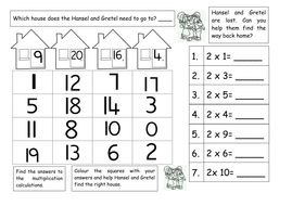 fairy tales multiplication   times tables by ruthbentham  worksheet