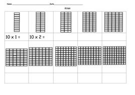Arrays - 10 time tables