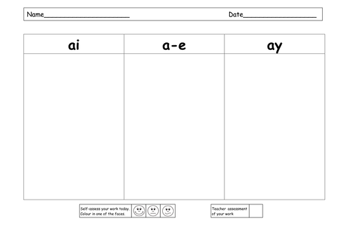Printables Ai And Ay Worksheets ai ay a e powerpoints and resources by ruthbentham teaching tes