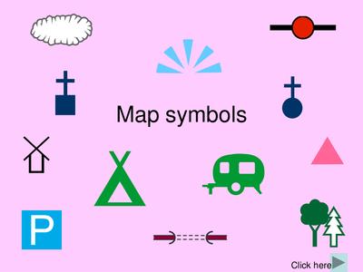 Map Key Symbols For Kids Worksheet