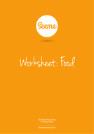Food List Writing Worksheet