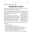 Reading Comprehension texts and questions Year 4