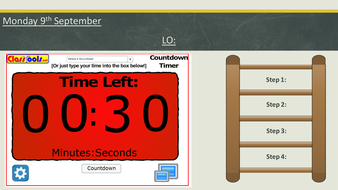countdown timer in powerpoint from classtools net by kflanagan91