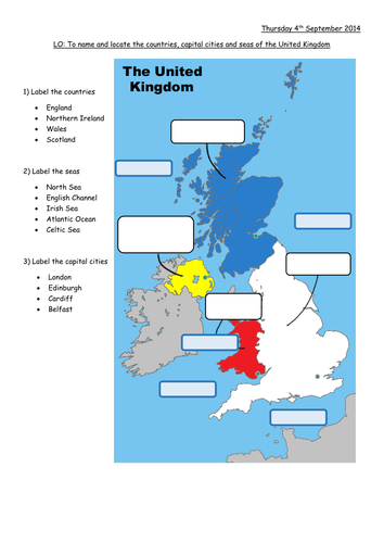 British Isles Map To Label By Lisahoward Teaching Resources Tes - Japan map quiz worksheet
