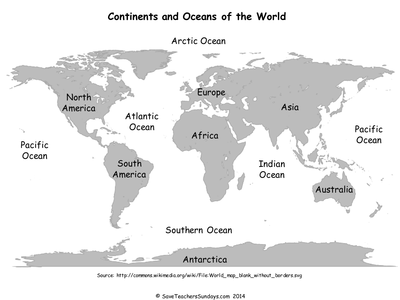 continents and oceans ks1 map and plenary ppt. Black Bedroom Furniture Sets. Home Design Ideas