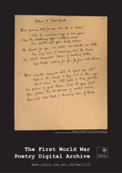 World War One Poetry Classroom Posters