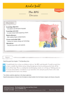 Roald Dahl's 'The BFG' - Lesson Plan