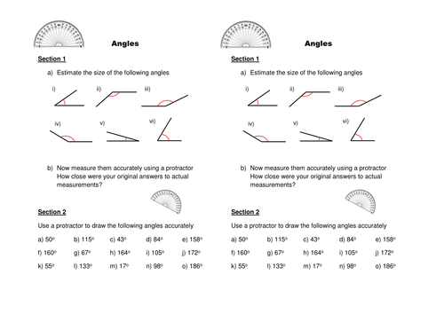 Drawing & Measuring Angles by CALeech   Teaching Resources ...