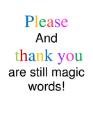 please and thank you poster by missfluffle teaching resources tes