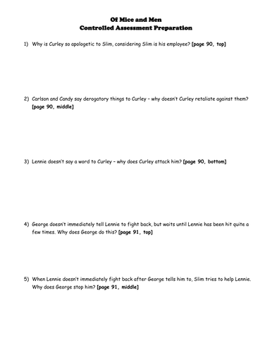 Worksheets Of Mice And Men Worksheet of mice and men worksheets activities by phines08 teaching resources tes