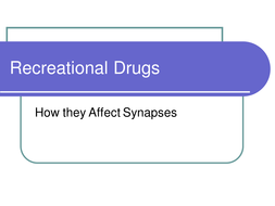 Recreational Drugs and Synapses