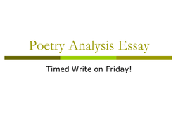 writing a poetry analysis essay