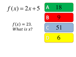 Functions multiple choice starter