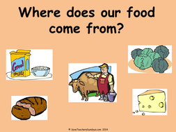 Where Food Comes From Plan, PP and Worksheets by ...