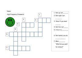 Phase 5 Hfw Crossword Teaching Resources