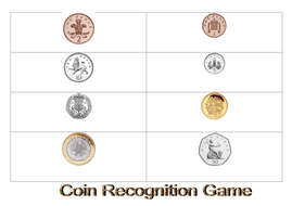 coin recognition game by rcjaume teaching resources. Black Bedroom Furniture Sets. Home Design Ideas