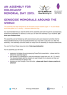 Holocaust Memorial Day 2015 - Genocide Memorials