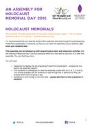 Holocaust Memorial Day 2015 - Holocaust Memorials