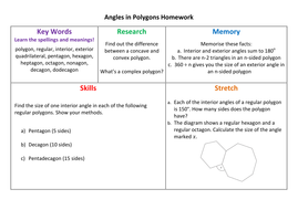 Angles in Polygons Homework