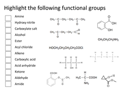 functional group identification by gemma d teaching resources tes