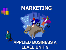 marketing presentation for applied a level or btec by