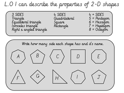 Differentiated polygon worksheet and notebook
