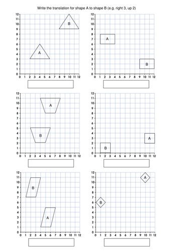 Translation Math Worksheets & translations rotations reflections ...