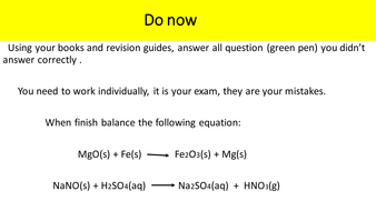 Balancing Equations by penelopequero - Teaching Resources - Tes