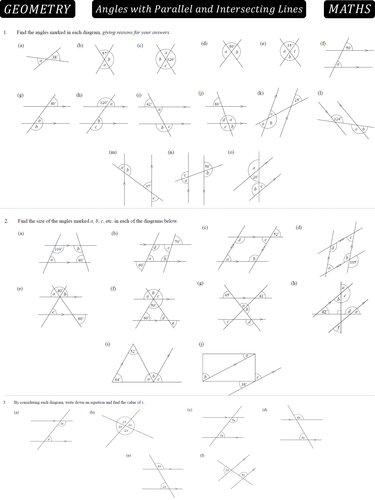 Angles in parallel lines by danbar1000 - Teaching Resources - TES