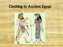 Ancient Egyptian Clothing By S1005900 Teaching Resources