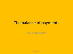 Lesson 11 Balance of payments by mrsmith123 | Teaching Resources