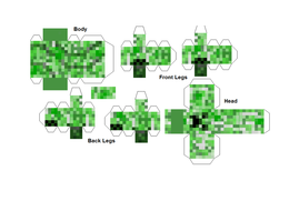 Minecraft Nets 3D shapes