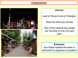 topic on urbanisation