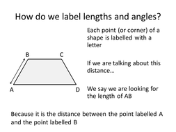 Identify and Label Angles and Lengths