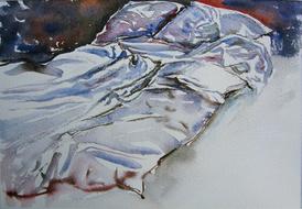 'Hospital bed, no. 12' - watercolor painting on paper, by Hubertine Heijermans  22x30 cm.JPG