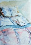 'Hospital bed, no. 8' - watercolor painting on paper, by Hubertine Heijermans  22x30 cm.JPG