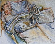 'Hospital bed, no. 37' - watercolor painting on paper, by Hubertine Heijermans  22x30 cm.JPG