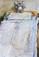'Hospital bed, no. 3' - watercolor painting on paper, by Hubertine Heijermans  22x30 cm.JPG