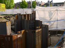 Building pit with piles and construction cloths-Amsterdam- HilFo-2014.jpg