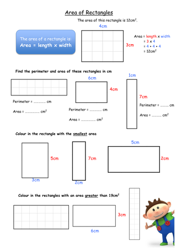 Area and perimeter of rectangles   Teaching Resources