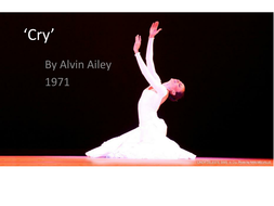 alvin ailey cry essay