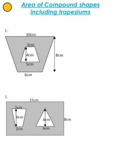 Area of compound shapes & Functional GCSE Exam Q's ...