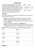 Covalent bonding worksheet   Teaching Resources
