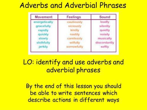 Adverbial Phrases Homework Ks2 Stie Pertiwi