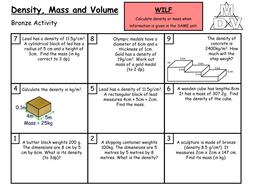 Density, Mass and Volume (Grade C/B)