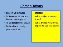 Design a Roman Town