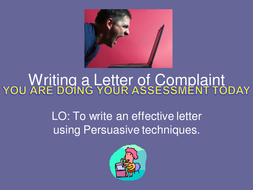 Letter of complaint powerpoint with assessment by radiomagic30 letter of complaint powerpoint with assessment spiritdancerdesigns Gallery