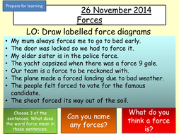 Naming and Labelling forces