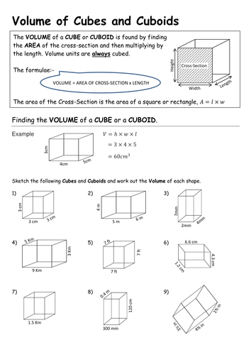 Volume Of Cuboids And Triangular Prisms By Pebsy